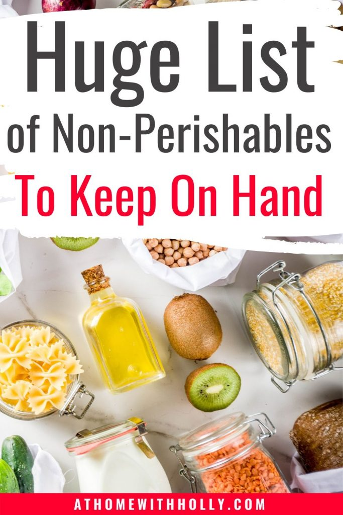 List of Non-Perishiables to Keep On Hand When Starting Out With Small Scale Homesteading
